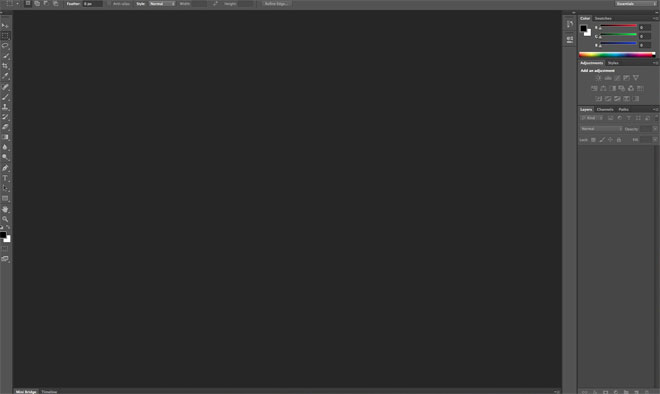 Photoshop sučelje programa