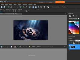 Corel Pain Shop Pro Edit sekcija