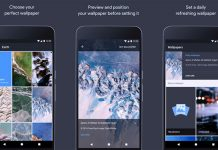 Google pozadine sučelje aplikacije