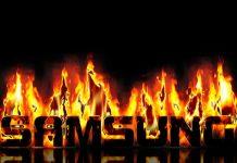 Samsung logo u vatri