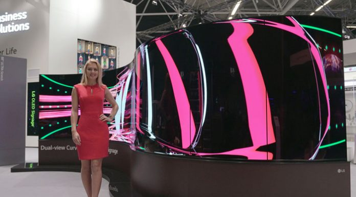 LG Dual-View Curved Tiling OLED