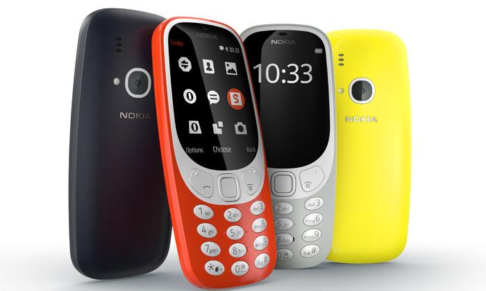 Nokia 3310 crna, crvena, žuta i siva