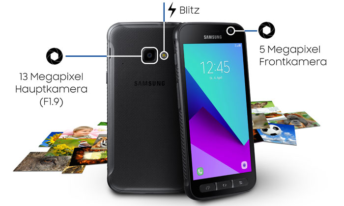Kamere na Samsung Galaxy Xcover 4